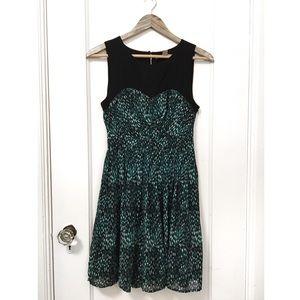 f21 pleated dress